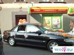 Sprzedam przepiękną dekorację auta herbaciane róże tablice szarfa TANIO!!