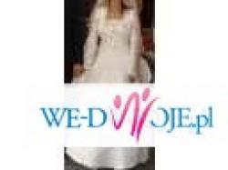 Sprzedam przepiękną, skromną białą suknię ślubną + bolerko.