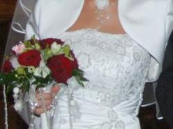Sprzedam przepiękną śnieżnobiałą suknię ślubną. Zapraszam