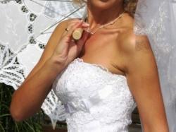 sprzedam przepiękna suknię ślubną