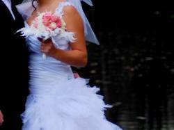 sprzedam przepiękną suknię ślubną + dodatki!