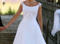 Sprzedam przepiękną suknię ślubną Herms Delori (biel)