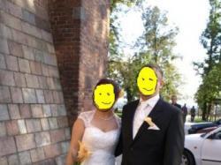Sprzedam przepiękną suknię ślubną RABIAL.  Zakupioną w salonie EVITA w Tychach.