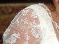 Sprzedam  przepiękną suknie ślubną w kolorze ecri  .