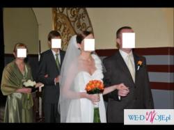 Sprzedam przepiękną suknię ślubną w kolorze ecru