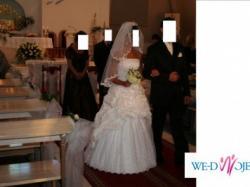 Sprzedam przepiękną suknię ślubną wraz z welonem
