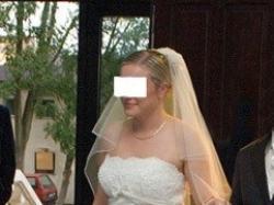 Sprzedam przepiękną suknię ślubną z trenem firmy Herms model Kivor