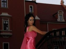 Sprzedam różową suknię wieczorową:)