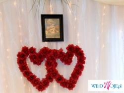 sprzedam serca do dekoracji sali weselnej