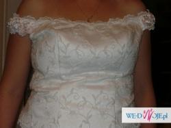 Sprzedam  skromną suknię ślubną