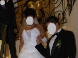 Sprzedam śliczną białą suknię roz 40/42 z kolekcji Isabel - model Tess