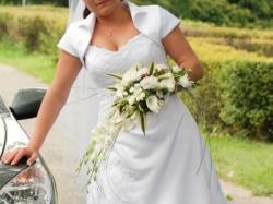 sprzedam śliczną, białą suknię ślubną