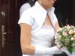 sprzedam sliczna biała suknie slubną