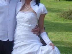 sprzedam sliczną biała suknie ślubną