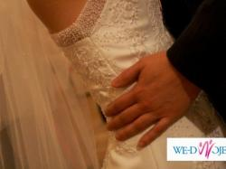 Sprzedam śliczną francuską suknię ślubną firmy TOMY MARIAGE