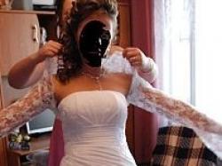 Sprzedam śliczną jednoczęściową, białą suknię ślubną