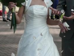 sprzedam śliczną śnieżnobiałą sukienkę ślubną