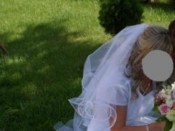 Sprzedam śliczną śnieżnobiałą suknie ślubną:)