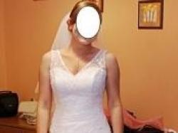 Sprzedam sliczna snieznobiala suknie slubna romiar 38