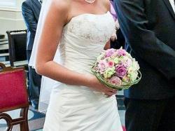 Sprzedam ŚLICZNĄ suknię HERMS LINSOR!!