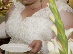 1343c54855 Sprzedam śliczną suknię ślubną 48 50 52 - Suknie ślubne - Ogłoszenie ...