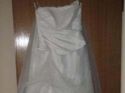 Sprzedam śliczną suknię ślubną białą gorset + spódnica + śliczne bolerko