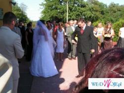 Sprzedam śliczną suknię ślubną. Dodatki GRATIS!!!