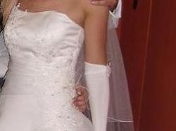 sprzedam śliczną suknie ślubną + dodatki gratis