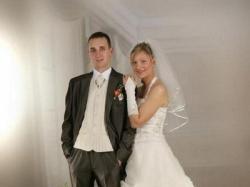 sprzedam śliczną suknię ślubną ecre