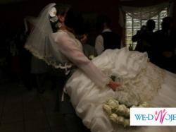 SPRZEDAM Śliczną Suknię Ślubną ekri_poczuj sie jak księżniczka