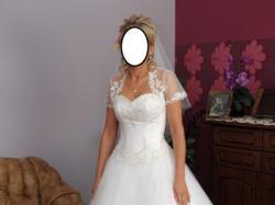"""Sprzedam śliczną suknię ślubną EMMI MARIAGE """"MARABU"""""""