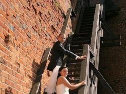 Sprzedam śliczną suknię ślubną Herm's Model KIVOR rom.42