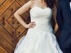Sprzedam śliczną suknię ślubną HERMS VANIMO