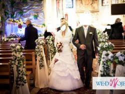 Sprzedam Śliczna Suknie Ślubna - Kolor bialy rozmiar 38 Polecam !