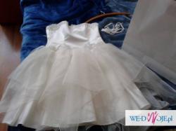 Sprzedam Śliczną Suknię Ślubną Krótką :) TANIO!!!