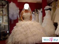 Sprzedam śliczną suknię ślubną model Savier