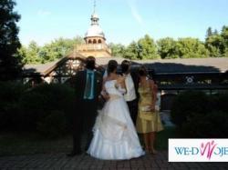 Sprzedam śliczną suknię ślubną, może być dla ciężarnej panny młodej.