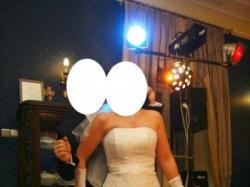 Sprzedam śliczną  suknię ślubną (śnieznobiała)