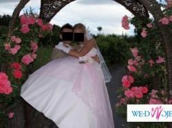 Sprzedam śliczną suknię ślubną w kolorze delikatnego różu