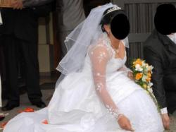 Sprzedam śliczną suknie ślubną-wyszczuplająca!