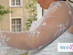 Sprzedam śliczną suknie ślubną - wyszczuplająca z kryształkami