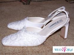 Sprzedam śliczne buty ślubne, nowe firmy Margarett.