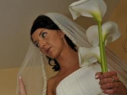 Sprzedam smietanową suknię ślubną