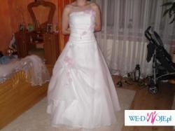 Sprzedam śnieżnobiałą suknię ślubną :)