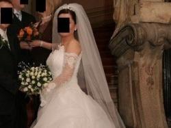 Sprzedam śnieżnobiałą suknię ślubną dla Królowej!!!