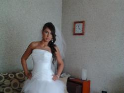Sprzedam snieznobiala suknie slubna Weronica 36/38!!!stan idealny!!!!