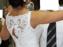 Sprzedam stylową suknię z trenem La Mariee z NY