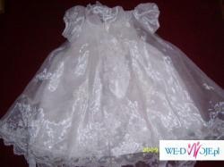 sprzedam sukienke do chrztu z USA z trenem