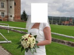 [SPRZEDAM] sukienkę ślubną w kolorze ECRU  z cyrkoniami
