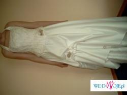 sprzedam suknę ślubna, ecru, 2 częśćiowa r. 38, cena 500zł